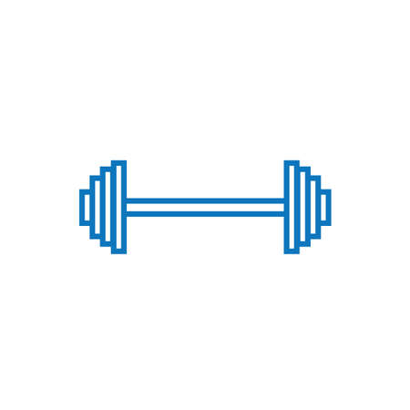 A barbell illustration.