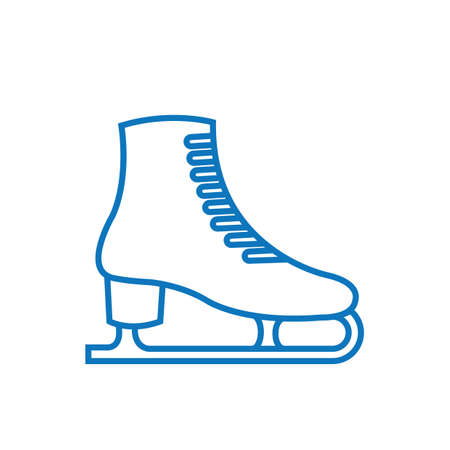Ice skate illustration.