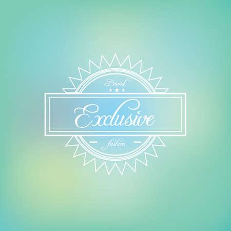 exclusive label Illustration