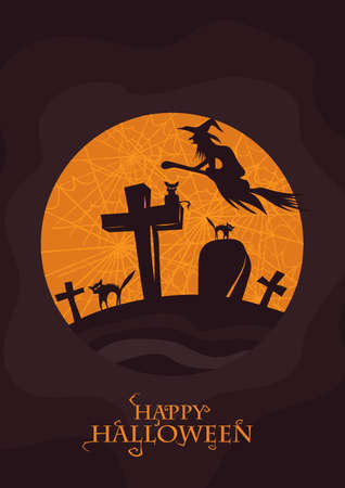 happy halloween card 일러스트