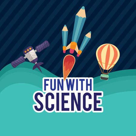 fun with science Reklamní fotografie - 81470743