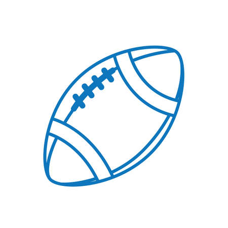 アメリカン フットボールのボールのイラスト。
