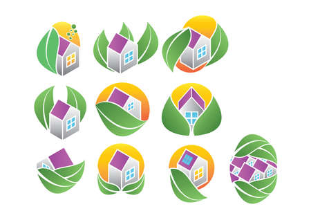 ecofriendly house icons
