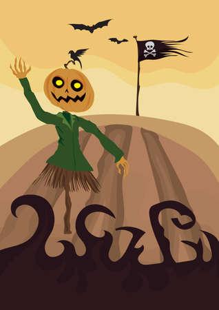 happy halloween card Stock Illustratie