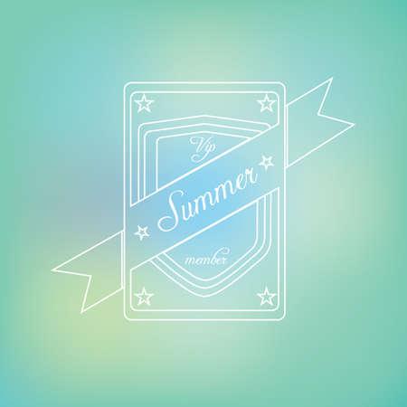 Summer label Ilustração