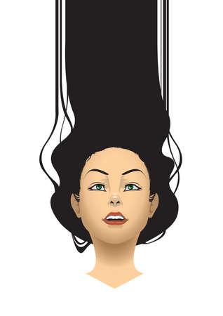 긴 머리를 가진 여자