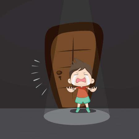 jongen huilen