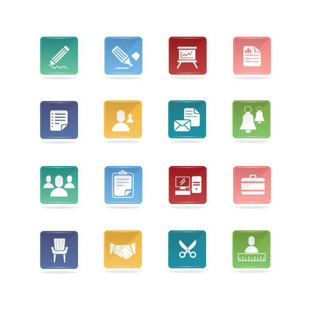 Office and business icons 向量圖像