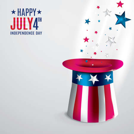 4th of july independence day poster Illustration