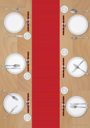Dining table Ilustração