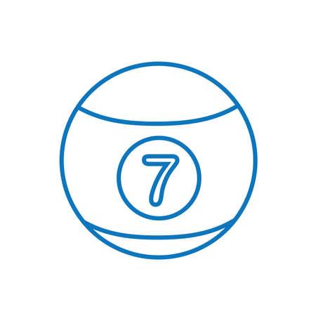A snooker ball illustration.