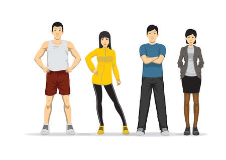 people in different poses