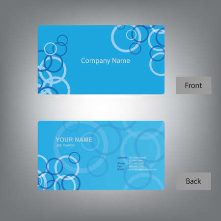 A front and back business card template illustration.