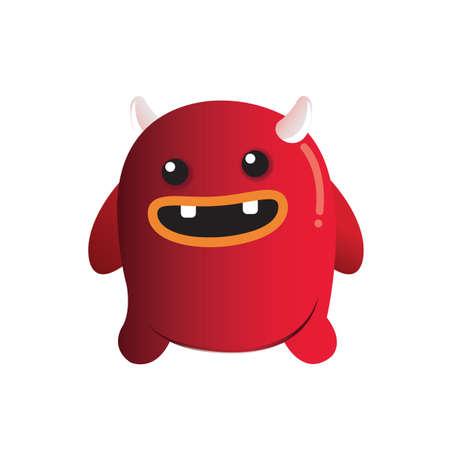 personaje monstruo Ilustración de vector