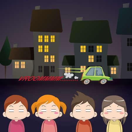 irritated children Illustration