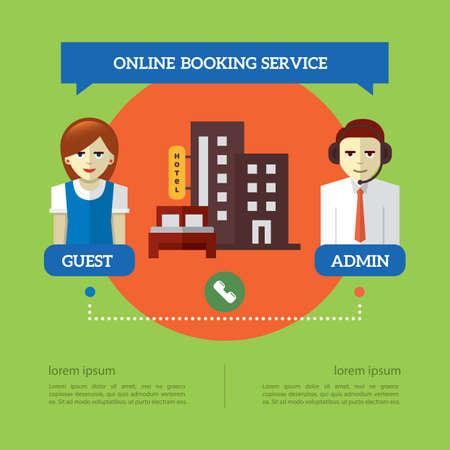 Infographic van online reserveringsservice