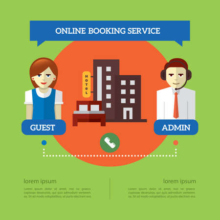 Infographic of online booking service