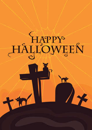 happy halloween card 矢量图像