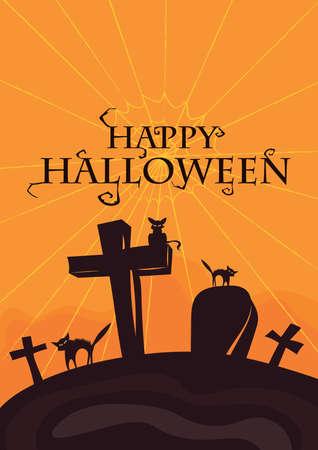 happy halloween card Illustration