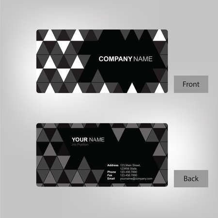 front and back business card template