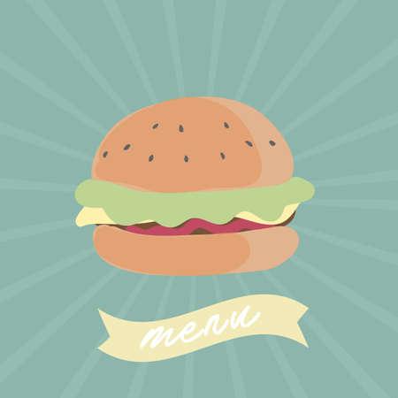 メニューのハンバーガー