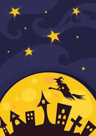 happy halloween card Illusztráció