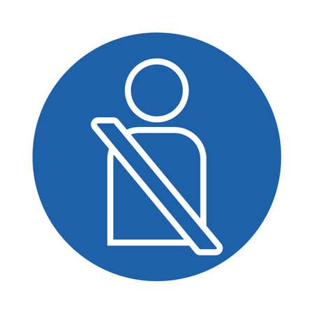 person wearing seatbelt