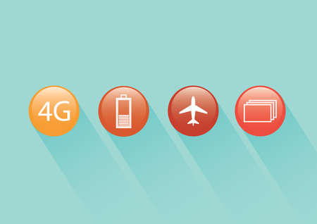 A web buttons illustration. Illustration