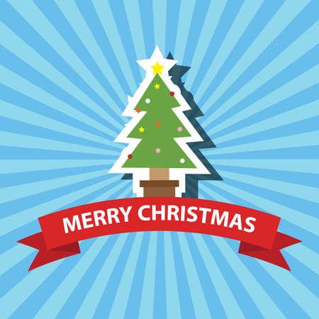 メリー クリスマス グリーティング カード イラスト。