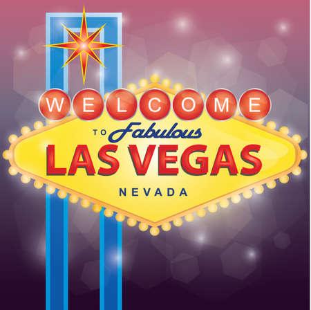 Welkom bij Las Vegas Stock Illustratie