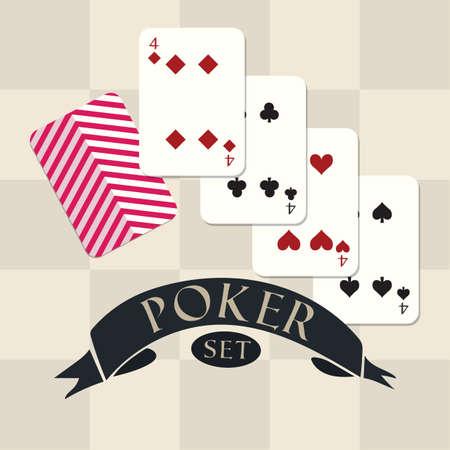 Set di poker Archivio Fotografico - 81485768
