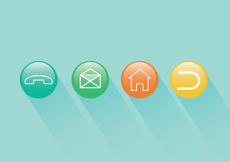 A web buttons illustration. Illusztráció