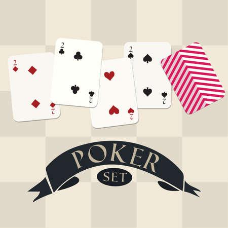 Set di poker Archivio Fotografico - 81485759
