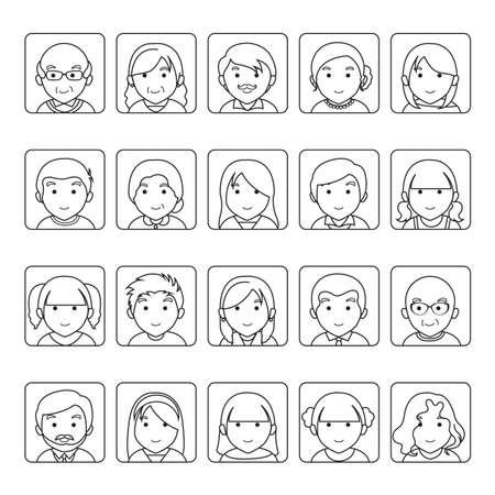 Collection d'icônes de famille Banque d'images - 81537029