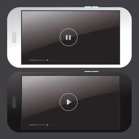 Smartphone-videospelerinterface Stock Illustratie