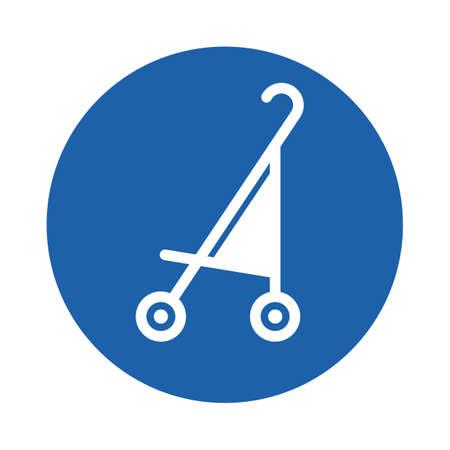 baby stroller Ilustração