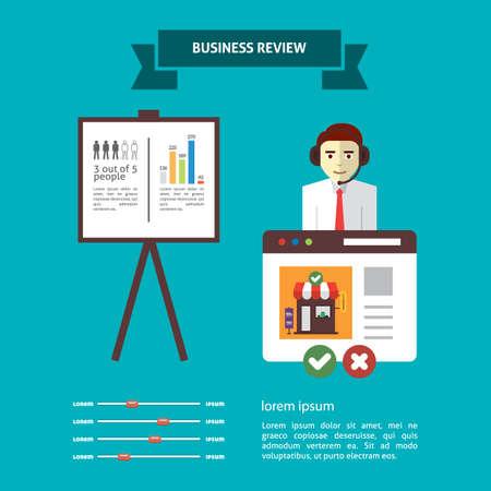 ビジネス レビューのインフォ グラフィック