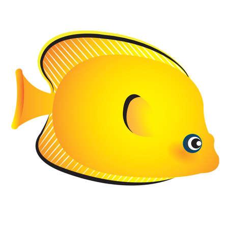 A yellow fish illustration. Illusztráció