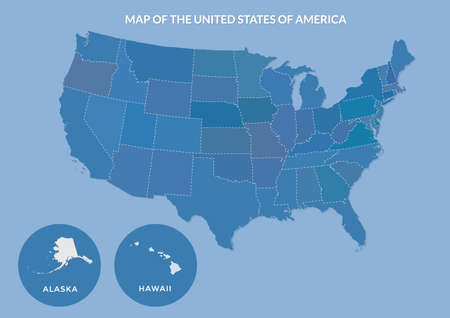 Maps of the united states of america Stock Illustratie