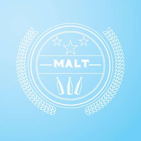 malt label