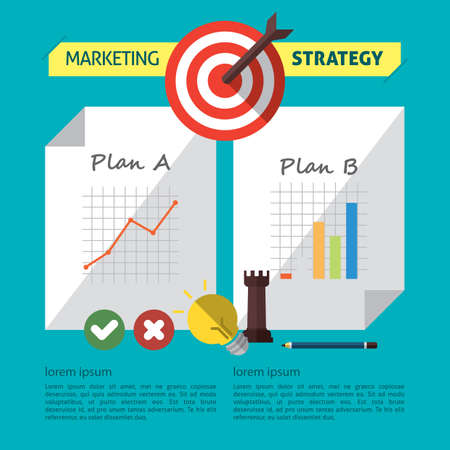 Infographic of marketing strategy Иллюстрация