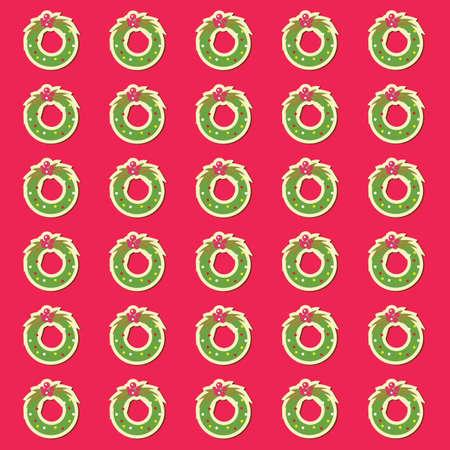 A wreath pattern background illustration. Imagens - 81536116
