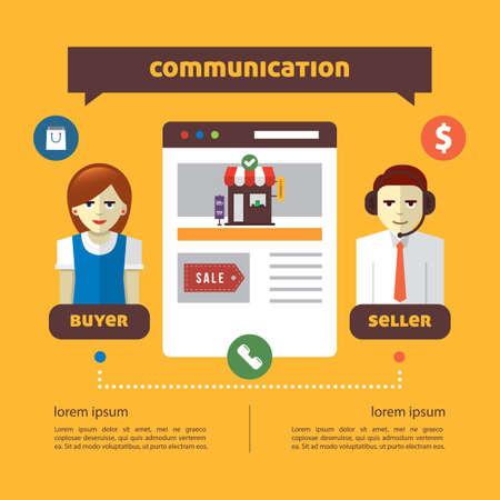 Infographic van online winkelen Stock Illustratie