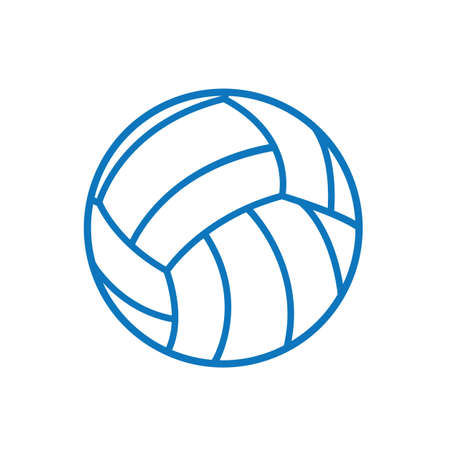 A volleyball illustration.