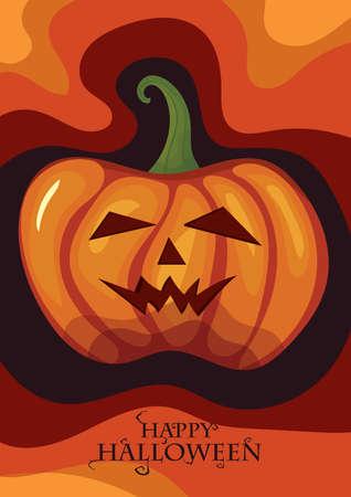 happy halloween card  イラスト・ベクター素材
