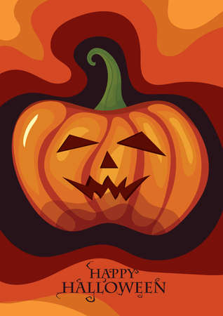 happy halloween card Vectores