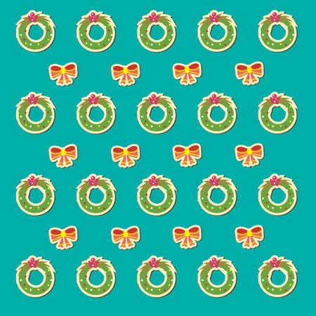 Kranz und Band Muster Hintergrund Illustration. Standard-Bild - 81536149