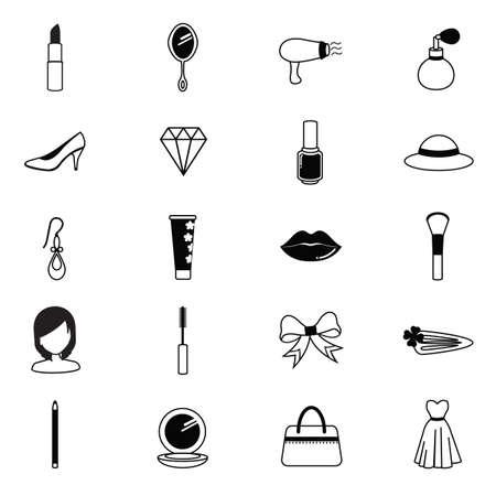 Conjunto de iconos de belleza Foto de archivo - 81536614