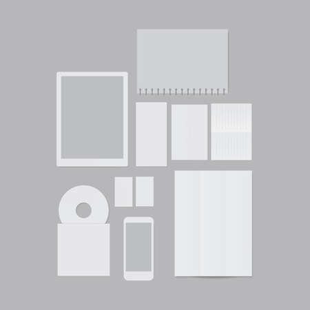 A flat design paper and technology templates illustration.