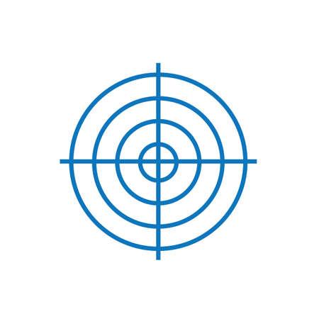 A shooting targets illustration. Ilustração